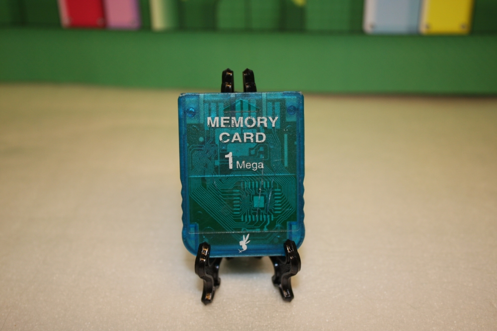 PS - Memory Card Clear Blue (Uoriginalt).